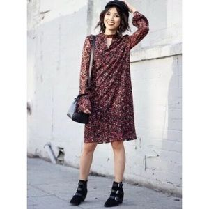 Libby Edelman Long Sleeve Floral Lace Dress